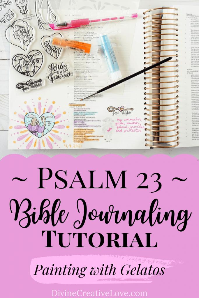 Psalm 23 Bible journaling tutorial