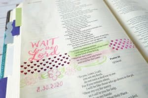 Psalm 27:13-14 wait for the Lord