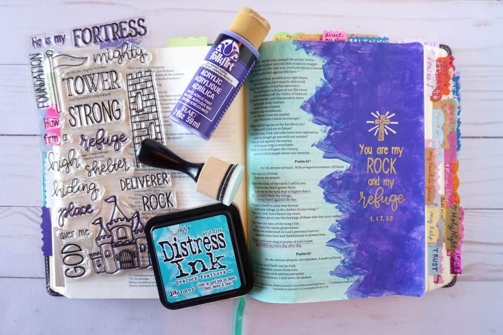 Psalm 61 - Mighty Fortress stamp set
