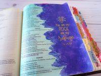 Psalm 61 - Bible journaling Distress Inks