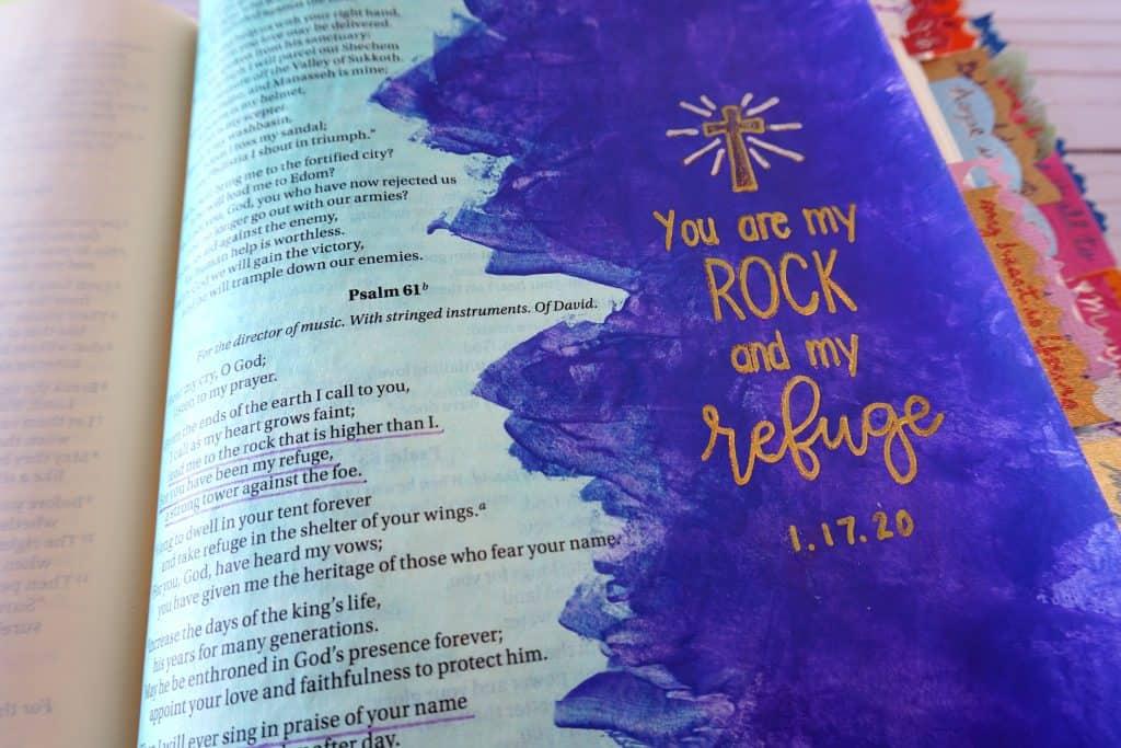 Psalm 61 Bible journaling