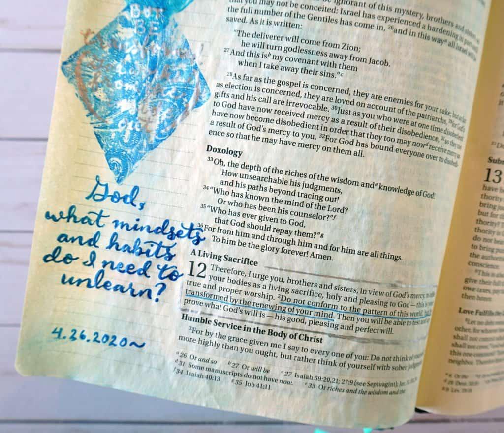 Romans 12:2 Be transformed