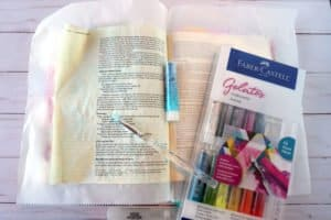 Romans 12:2 Bible journaling tutorial step 1