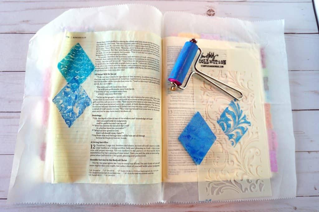 Romans 12:2 Bible journaling step 2