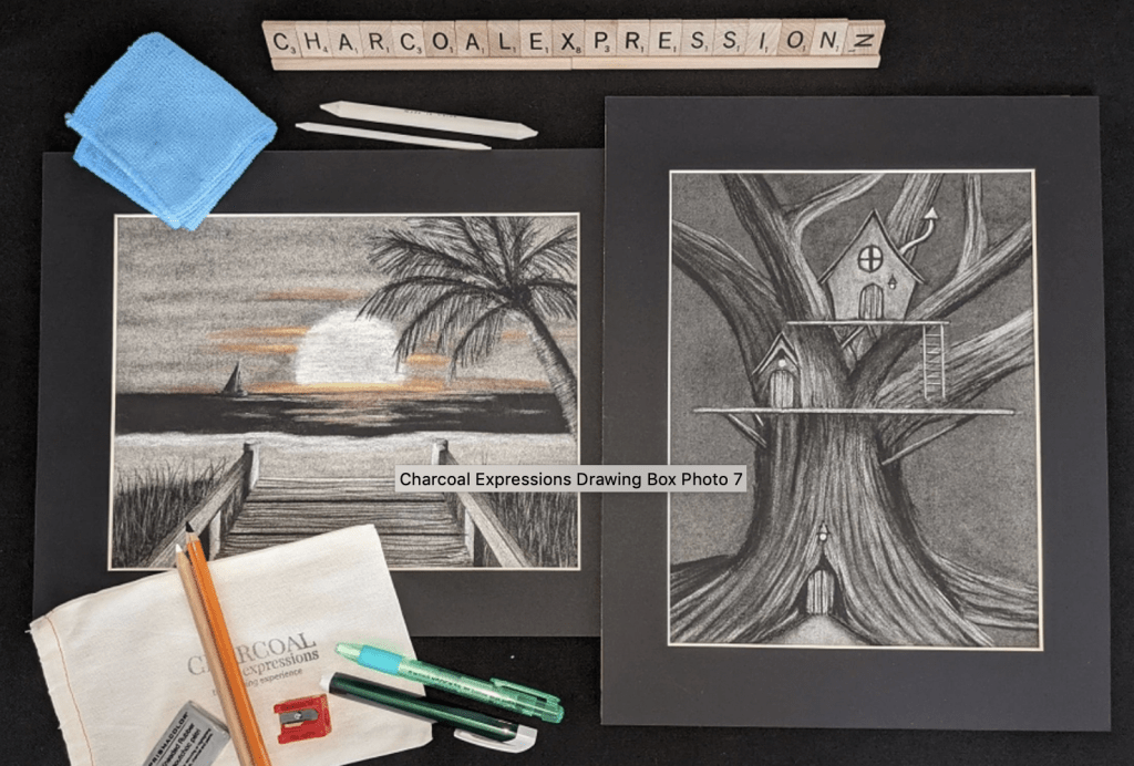 Charcoal Expressions drawing box