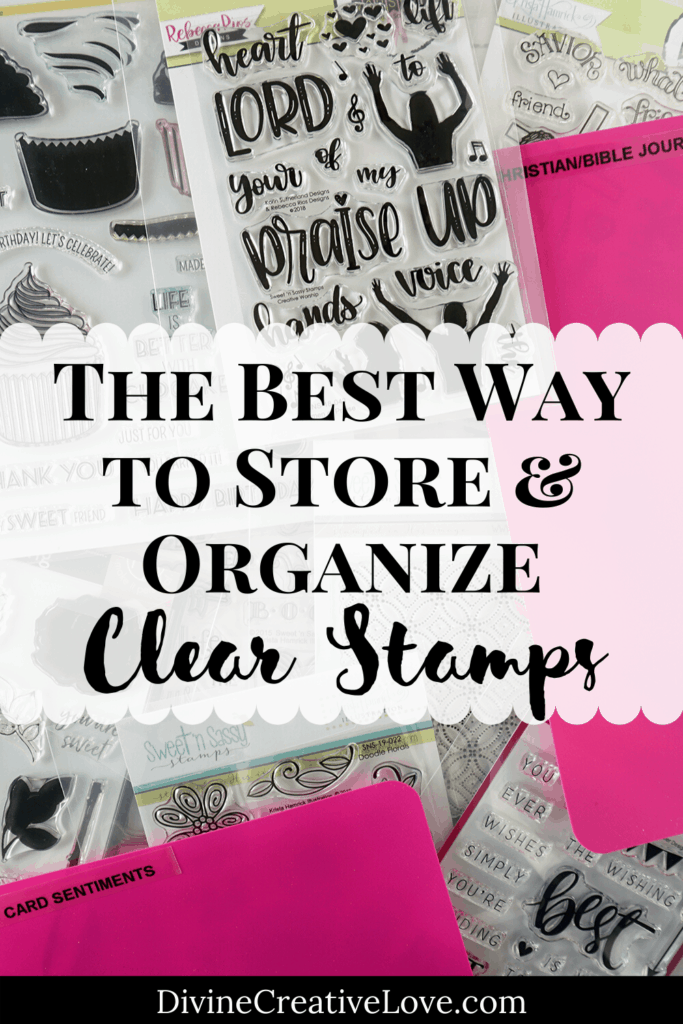how to store clear stamps