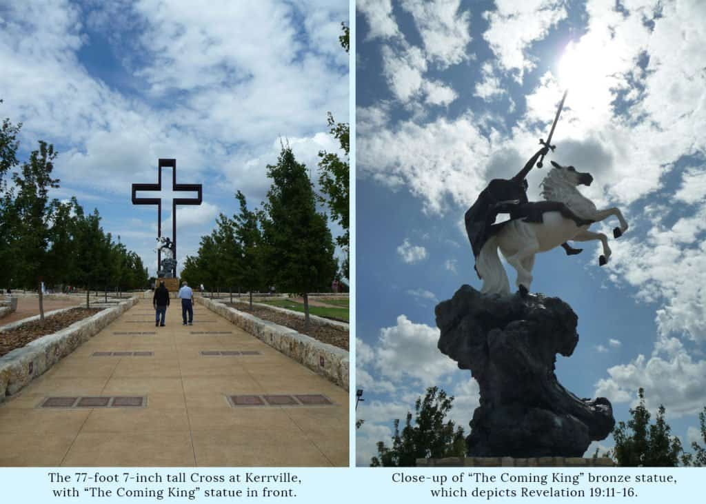 The Cross and Coming King Statue