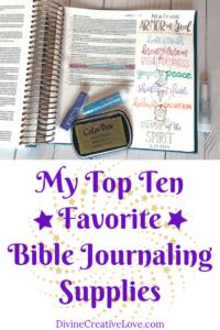 Bible journaling supplies