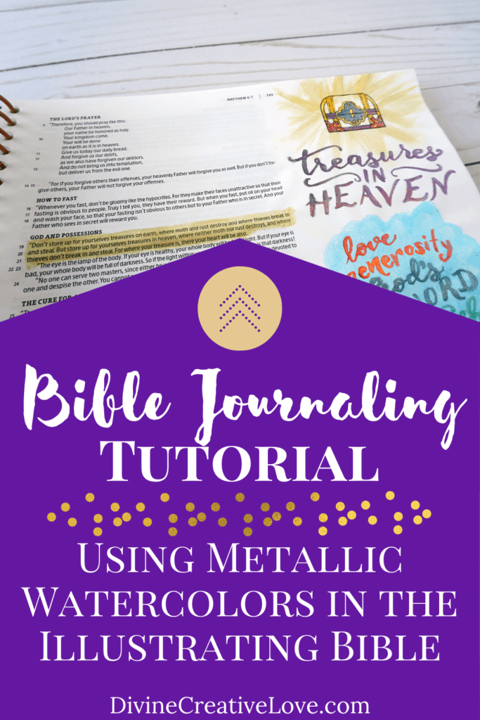 Bible journaling tutorial - treasures in heaven