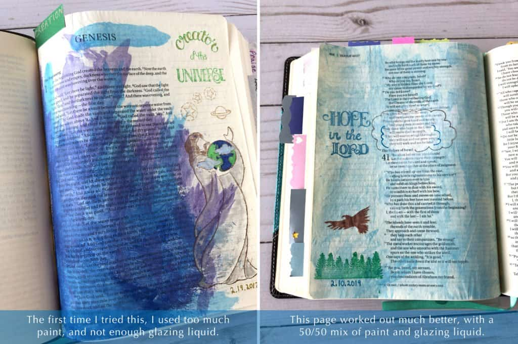 Bible journaling examples - paint