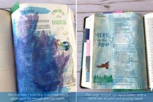 Bible journaling paint example