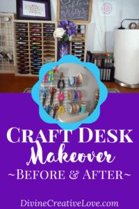 craft desk makeover - Divine Creative Love