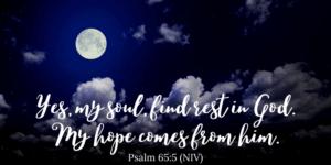 Bible verses to help me sleep - Psalm 65:5