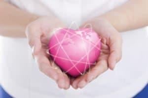 earth pink heart