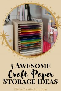 how to store craft paper