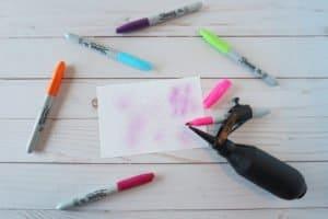 marker spritzer with Sharpie markers