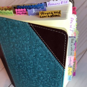 Bible with tabs