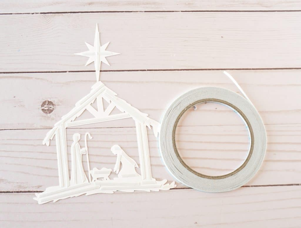 nativity silhouette and adhesive roll
