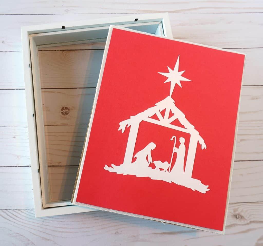 nativity scene shadow box background