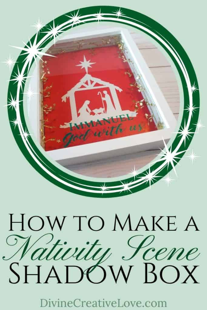 how to make a nativity shadow box