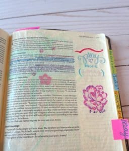 Bible journaling page - pray more, worry less