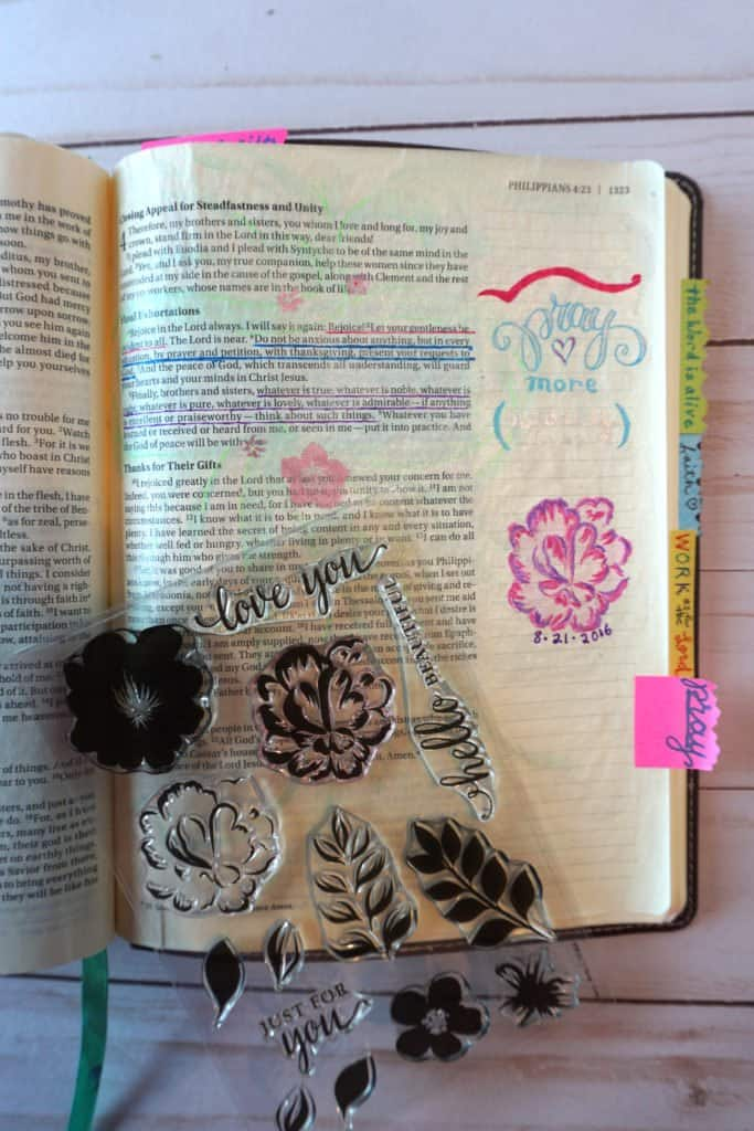stamps - simple Bible journaling ideas