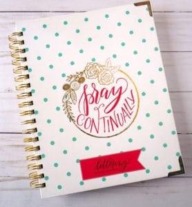 Lettering Prayer Journal