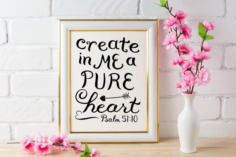 Psalm 51:10 art