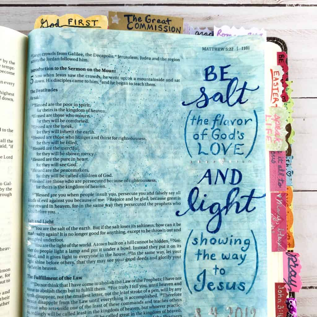salt and light Bible journal