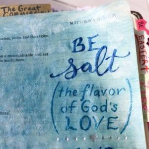Bible journaling ideas - salt & light