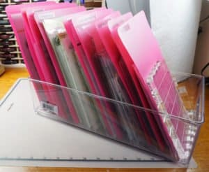 how to organize clear stamps