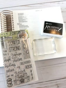 stamp set and ink pad