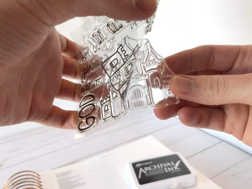 how to use clear stamps
